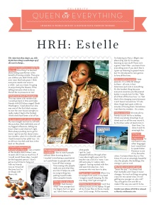 Estelle interview (Stylist)