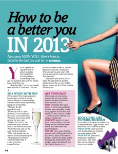 How to be a better you in 2013 (Fabulous)