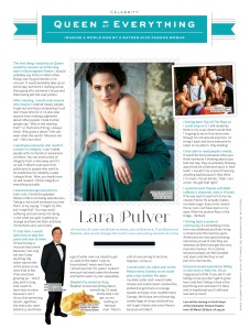 Lara Pulver interview (Stylist)