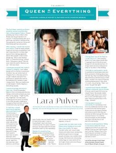 Lara Pulver interview (Stylist)