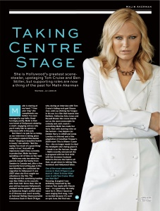 Malin Akerman interview (Stylist)