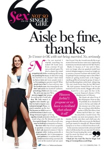 May 2012 Cosmo column