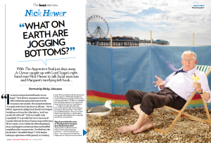 Nick Hewer interview
