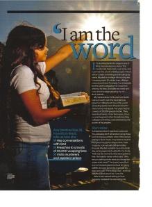 Teenage girl preacher (Sugar)
