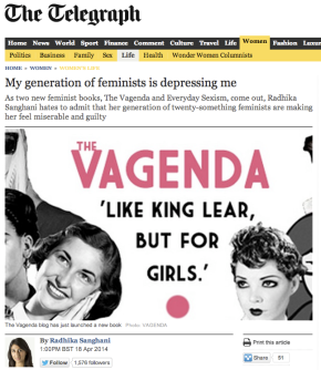 Great article: why my generation of feminists is depressing me