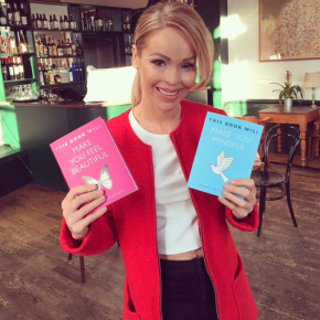 Katie Piper pictured with my new books!